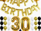 Happy 30th Birthday Banner Gold 30th Birthday Party Decorations Kit Happy Birthday