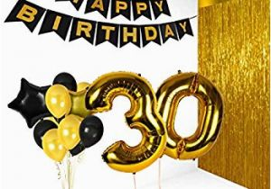 Happy 30th Birthday Banner Gold Amazon Com Giant 30th Gold Number Mylar Balloons for