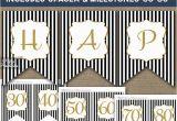 Happy 30th Birthday Banner Gold Birthday Banner Printable Happy Birthday Banner Black Gold