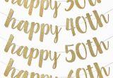 Happy 30th Birthday Banner Gold Joy Enlife Gold Glitter Quot Happy 30th 40th 50th 60th