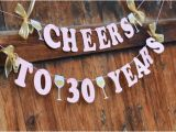 Happy 30th Birthday Banner Rose Gold 30th Birthday Banner for Her Cheers to 30 by