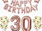 Happy 30th Birthday Banner Rose Gold Amazon Com 30th Birthday Decorations Rose Gold 30 and