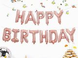Happy 30th Birthday Banner Rose Gold Rose Gold Hanging Happy Birthday Aluminum Balloons for