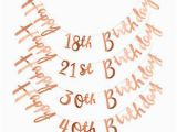 Happy 30th Birthday Banner Rose Gold Rose Gold Happy Birthday Bunting Banner 18th 21st 30th