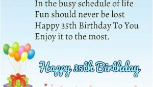 Happy 35th Birthday Quotes Happy 35th Birthday Quotes and Images Happy Wishes