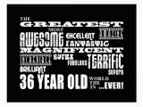 Happy 36th Birthday Quotes 36th Birthday Party Greatest Thirty Six Year Old Postcard