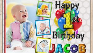 Happy 3rd Birthday Banner Printable Personalised Happy First 1st Birthday Poster Banner Print