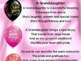 Happy 3rd Birthday Granddaughter Quotes Fridge Magnet Personalised Granddaughter Poem Happy