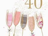 Happy 40 Birthday Girl 40th Birthday Champagne Portfolio Cards Galore