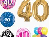 Happy 40 Birthday Girl Age 40 Happy 40th Birthday Qualatex Balloons Helium