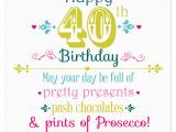 Happy 40 Birthday Girl Happy 40th Birthday Juicy Lucy Designs