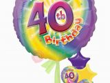 Happy 40 Birthday Girl Personalised Num 40 Happy 40th Birthday Girl Balloons