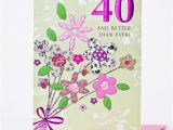 Happy 40th Birthday Flowers 40th Birthday Card Bouquet Of Flowers Only 99p