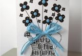 Happy 40th Birthday Flowers 40th Happy Birthday Flower Sparkle Card by Sew Very