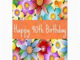 Happy 40th Birthday Flowers Diva 39 S Happy 40th Birthday Flower Power Postcard Zazzle