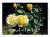 Happy 40th Birthday Flowers Happy 40th Birthday Flower Card Zazzle