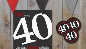 Happy 40th Birthday Gifts for Him New 40th Birthday Party Invitations for Him Creative