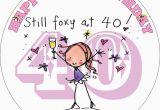 Happy 40th Birthday Girlfriend Happy 40th Birthday Female Edible Cake topper