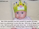 Happy 5 Months Birthday Baby Quotes Hey Little Munchkin You Have Turned Six Months Birthday Wish