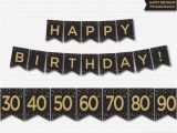 Happy 50th Birthday Banner Happy Birthday Banner Printable 30th 40th 50th 60th 70th