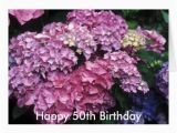 Happy 50th Birthday Flowers Happy 50th Birthday Flower Card Zazzle