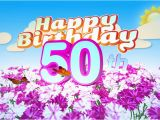 Happy 50th Birthday Flowers Happy 50th Birthday Title Seamless Looping Animation for