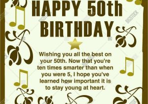 Happy 50th Birthday Quotes for Friends Unique Happy 50th Birthday Wishes Concept Greeting for