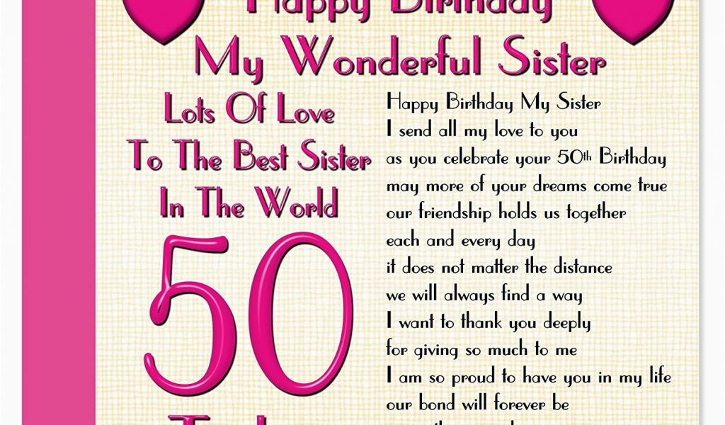 Download By SizeHandphone Tablet Desktop Original Size Back To Happy 50th Birthday Sister Card