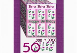Happy 50th Birthday Sister Card Zazzle Com Au