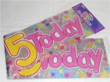 Happy 5th Birthday Banners 3 Giant Foil Happy 5th Birthday Banner Sash Wall Banner