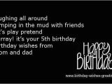 Happy 5th Birthday to My son Quotes 5 Year Old Happy Birthday Quotes for Girls Quotesgram