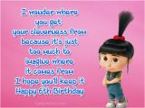 Happy 6th Birthday son Quotes 6th Birthday Wishes and Quotes Cards Wishes