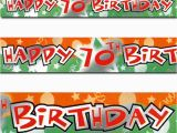 Happy 70th Birthday Banner Images 12ft orange Green Happy 70th Birthday Party Foil Banner