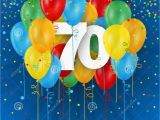 Happy 70th Birthday Banner Images Happy 70th Birthday Anniversary Card with Balloons Stock