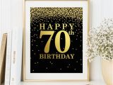 Happy 70th Birthday Banner Images Happy 70th Birthday Print Birthday Poster 70th Birthday