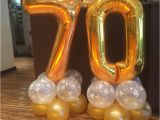 Happy 70th Birthday Decorations 70th Birthday Balloons In Gold and Clear 39 Happy Birthday