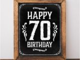 Happy 70th Birthday Decorations 70th Birthday Decorations Printable Happy 70th Birthday Sign