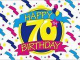 Happy 70th Birthday Decorations Happy 70th Birthday Party Banner 5 39 X3 39 Flag Ebay