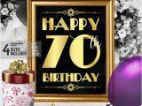 Happy 70th Birthday Decorations Happy 70th Birthday Sign Printable 70th Birthday Decor
