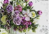 Happy 70th Birthday Flowers Happy 70th Birthday Card Purple Flower Design Dot2dot