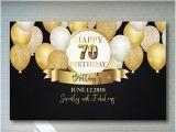 Happy 70th Birthday Mum Banner 70th Birthday Banner Etsy