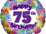 Happy 75th Birthday Banners 75th Birthday Decorations Banners 75 Years Balloons