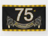 Happy 75th Birthday Banners 75th Birthday Gifts On Zazzle
