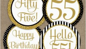 Happy 75th Birthday Banners Printable Happy Anniversary Banner Black Gold