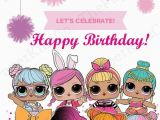 Happy 7th Birthday Banner Clipart L O L Surprise Dolls Custom Made Birthday Card for Her