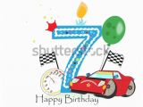 Happy 7th Birthday Banner Clipart Seventh Birthday Stock Images Royalty Free Images