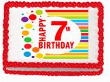 Happy 7th Birthday Banners Happy 7th Birthday Edible Peel N Stick Frosting Photo