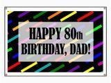 Happy 80th Birthday Banners 80th Birthday for Dad Banner by Birthdayhumor1