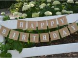Happy 80th Birthday Dad Banner Happy Birthday Banner Birthday Banner Burlap