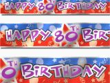 Happy 80th Birthday Decorations 12ft Blue Red Happy 80th Birthday Party Foil Banner